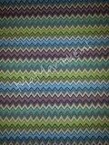 Gobelin - zigzag blauw-groen-paars_