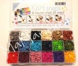 Kamsnaps tang met doos, 450 drukkertjes, 18 kleuren mat_