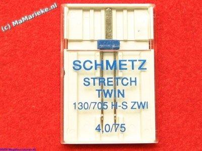 Stretch tweelingnaald 4.0/75