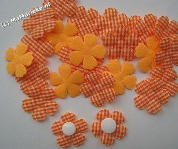 Oranje bloem applicatie