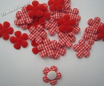 Rode bloem applicatie