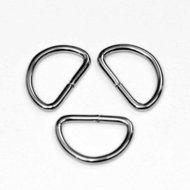 Metalen D-ring zilverkleurig