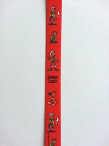 Lucky Luke Daltons elastiek rood, per 50cm