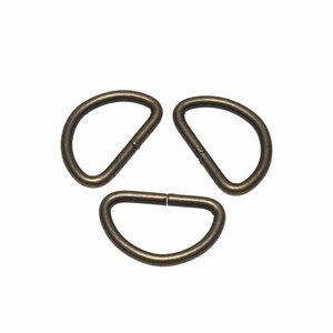 Metalen D-ring bronskleurig