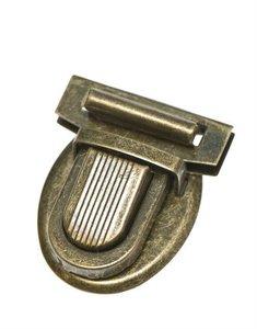 Metalen klik tassluiting bronskleurig