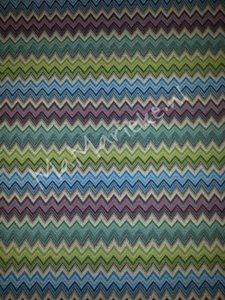 Gobelin - zigzag blauw-groen-paars