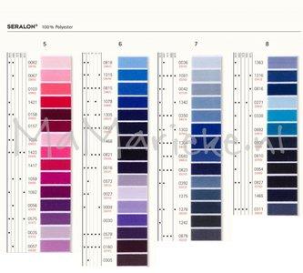 Seralon roze-paars-blauw tinten