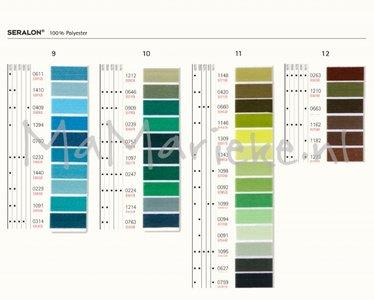 Seralon aqua-groen-bruin tinten