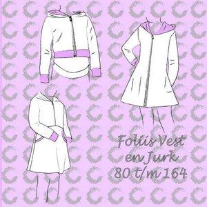 Foliis jurk en vesten