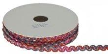 Roze-meloen-grijs zigzagband  metallic