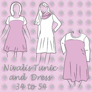 Nivalis dames jurk/tuniek