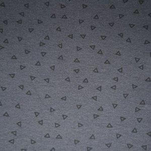 antraciet zwart driehoekje boordstof