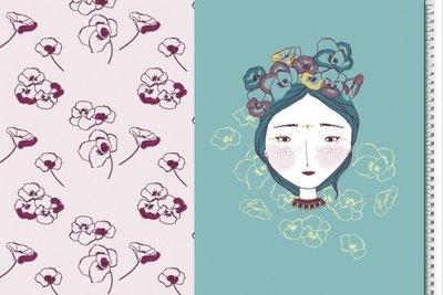 Bloemen meisje paneel