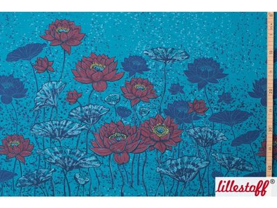 Lotus rood - paneel - Lillestoff