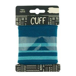 Cuff - petrol/mint