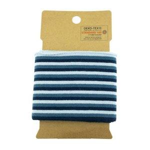 Cuff - multi smalle streep jeans/donkerblauw