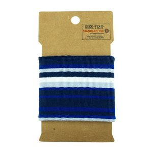 Cuff - multi streep blauw/lichtblauw