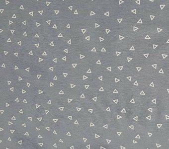 grijs-blauw wit driehoekje boordstof