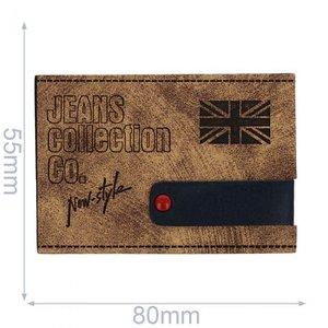 Jeans label skai leer