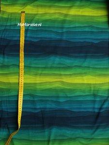 Wavy stripes - groen
