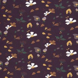 Basel retro flower bordeaux - geborstelde sweat