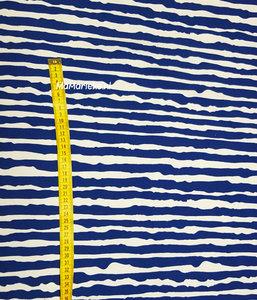 Organic cotton blauwe streep tricot